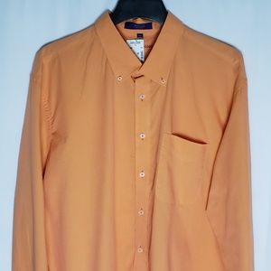 Alan Flusser Mens Shirt Orange Casual Career XXL